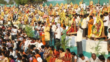 1008 Gods and Goddesses will convene for a Gram Devata utsav, on 12th May, 2013, as part of the 2- day Karnataka Vaibhava being celebrated on the occasion of birthday of the Founder of The Art of living, Sri Sri Ravi Shankar.