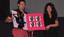 Devraj Sanyal - Managing Director, Universal Music India and SAARC and Priyanka Chopra launching the latters second single Exotic