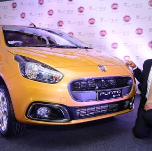 Mr.Nagesh Basavanhalli, President and Managing Director-FIAT Chrysler India launches new PUNTO EVO in Bangalore