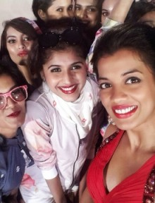Selfie moment with the Femina Style Divas at the curtain raiser.