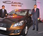 Maruti Suzuki CIAZ Launch (L toR) -Debjyoti  Dutta, Regional Manager, Karnataka &  Tarun Garg, VicePresident and National Head  (Sales)