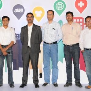 Captions- Mr Sagar Chaudhuri , Mr.Suryanarayana Kodukullu-Head of SMB Sales,Google India, Mr.Vipul Jain, Mr.Arun Kumarl, Mr.Gagan Singla are the Bangalore Google SME Heroes