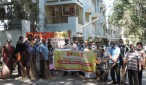 Staff members of Syndicate Bank conducted Swachch Bharath Abhiyan on 25th January 2015 at Nandini Layout, Bengaluru.