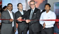 (Third From Left) Mr. Jurgen Wolf (Managing Director - Hafele India) Launch live Kitchen at the Exclusive Häfele Design in Bangalore