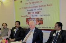 Lions Clubs of  Bangalore East Press Meet
