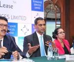 L- R : N Ravi Vishwanath, Chief Financial Officer, Teamlease Services Limited, Ashok Reddy, Managing Director, Teamlease Services Limited, Rituparna Chakraborty, Senior Vice President,