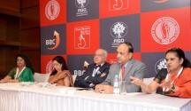 Dr. Bharati Dhorepatil, Vice President of FOGSI, Dr. Alka Kriplani, President of FOGSI, Dr. C. N. Purandare, Chairperson of FIGO, Dr. Charuchandra Joshi, President  POGS and Dr. Hema Divakar, FOGSI Ambassador  to FIGO