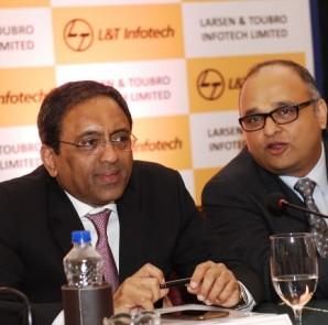 S. N. Subrahmanyan, President & Deputy Managing Director, L&T and Sanjay Jalona, MD& CEO