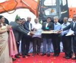 Tata Hitachi Team handing over symbolic key to DRN Infrastructure