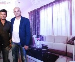 "Actor Puneeth Rajkumar and Bedraj Tripathy, Head, Integrated Marketing, Godrej Interio at a press conference at an exclusive unveiling of Puneeth Rajkumar's newly transformed home by Godrej Interio's ""Upload and Transform"" initiative in Bengaluru"