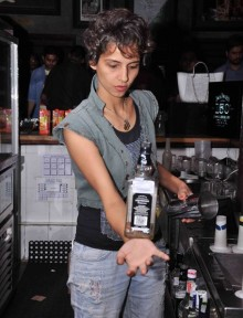 Celebrated mixologist Ami Berham Shroff at #Jacks150 party in Bangalore at Hard Rock Cafe