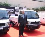 Mr. Vivek Nayer, Chief Marketing Officer, Automotive Division, Mahindra & Mahindra Ltd. at the launch of Supro 26 HP MiniVan and Minitruck in Bengaluru today