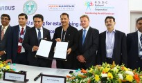 Signing of MOU between Airbus, Govt. of Telangana, Aerocampus Aquitaine France and National Skill Development Corporation