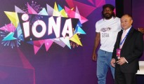 Chris Gayle @IONA launch