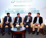L-R Thomas Mathew, Dr Anand Kumar, Dr Sunil Udgire, Dr Mahesh R, Dr Sachin Jadhav, Somashekhar (Patient)