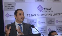 Sanjay Nayak MD & CEO, Tejas Networks at a press conference in Bangalore on Tuesday