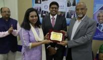 Subham Bardhan, Dr. RM Anjana, Dr. Praveen Gangadhara, Dr. D.C. Sundaresh at the launch