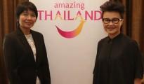 Ms. Soraya Homchuen (left)- Director and Mrs. Srisuda Wanapinyosak- TAT Deputy Governor for International Marketing( Asia and South Pacific)