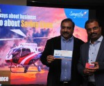 Subhash Chandra MD Sangeetha Mobiles with Capt Arun Sharma Managing Director of Aviators Air Rescue