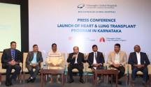 L-R Mr Thomas Mathew, Dr Yogesh Kothari, Patient Mohammed Rafi, Dr K Ravindranath, Dr Thasee Pillay, Dr Sandeep AS, Dr Ravindranath Reddy