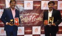 Mr. N. Sathappan, MD, SLN Coffee Private Limited (Left) from Cooorg and N. Vishwanath, JMD of have launched Levista Coffee brand in Bangalore on Thursday