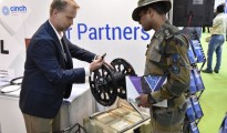 Mr. Craig Stratton - Manager Marketing - Industrial , AFL showcasing the product at the DefExpo 2018
