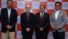 The launch event of the Hyatt Centric brand in India was attended by (L-...