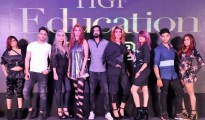TIGI Backstage Heroes in Delhi unveiling  the new TIGI RetrospectiveCollection