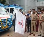 (L to R)Ms Shailaja Suresh, CEO, Gleneagles Global Hospitals, Bengaluru Dr Ravindranath K, Chairman & MD, BGS Gleneagles Global Hospitals,  Mr Suneel Kumar, Bengaluru Police Comissioner