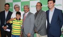 L-R Mr.Raj Gore, Dr KR Balakrishnan, Dr Vivek Jawali, Dr Murali Chakravarthy & Dr Manish Mattoo with Master Kushal