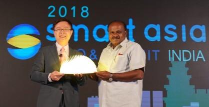 Mr. James Huang , Chairman of Taipei World Trade Center and Honorable Chief Minister of Karnataka Mr. H.D Kumaraswamy