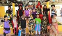 Students in costumes