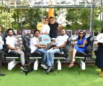 L -R(Mr. Joseph from house , Mr. Kiran Shreekumar, Mr.Abhilash Ingale, Mr Cohan Sujay Carlos,Ms Sangeetha Aiyer,on the deck it is Krushna Abhishek and Paras Thomar .