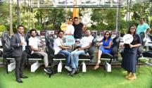 L -R(Mr. Joseph from house , Mr. Kiran Shreekumar, Mr.Abhilash Ingale, Mr Cohan Sujay Carlos,Ms Sangeetha Aiyer,on the deck it is Krushna Abhishek and Paras Thomar .