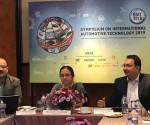 (L-R) A A Badusha, Senior Deputy Director-ARAI, Ms.Rashmi Urdhwareshe, Director, ARAI,Mr.Vikram Kirloskar, President, Automotive Research Association of India.