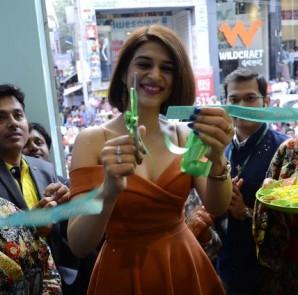 Renowned Actress Shraddha Das Cutting Ribbon