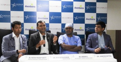 L-R Dr Partha  Pradeep Shetty,Dr. Satish Kumar MM, Dr. Mohan K, and Dr Somesh Mittal