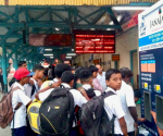 Janajal water ATM at a railway station in Mumbai