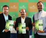 Hosa Chiguru Director Srinath, Chariman Ashok and Vinay are seen launching company's new project Hosa Chiguru Abhivruddhi in Bangalore