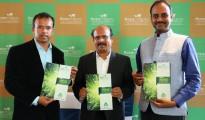 Hosa Chiguru Director Srinath, Chariman Ashok and Vinay are seen launching company's new project Hosa Chiguru Abhivruddhi in Bangalore