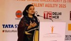 Debjani Ghosh, President – NASSCOM  during her speech at the conference