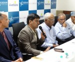 (L-R) Dr Ragavendra Baliga, Dr. Somesh Mittal, MD & CEO, Dr. P Ranganath Nayak, Consultant Cardiologist and Medical Director, Dr. P Padma Kumar, Consultant Cardiologist, Dr. Narendra V, Consultant Cardiac Surgeon & Dr Umesh N, Consultant Cardiologist, Vikram Hospital Bengaluru