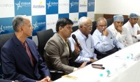 (L-R) Dr Ragavendra Baliga, Dr. Somesh Mittal, MD & CEO, Dr. P Ranganath Nayak, Consultant Cardiologist and Medical Director, Dr. P Padma Kumar, Consultant Cardiologist, Dr. Narendra V, Consultant Cardiac Surgeon & Dr Umesh N, Consultant Cardiologist, Vikram Hospital Bengaluru