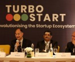 L-R Mr. Ullas Kamath, Advisory Board Member, InnovationQore, Mr. Rama Subramaniam, Chief Strategy Mentor. InnovationQore and Mr. Jogan Desai, Senior Advisor, InnovationQore at the launch of Turbostart