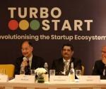 L-R Mr. Ullas Kamath, Advisory Board Member, InnovationQore, Mr. Rama Subramaniam, Chief Strategy Mentor. InnovationQore and Mr. Jogan Desai, Senior Advisor, InnovationQore at the launch of Turbostart