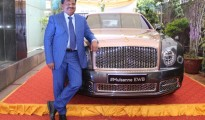Mr V S Reddy of British Biologicals with the Bentley Mulsanne EWB car