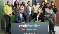 TechFynder Team in Ireland with Mr. Praveen Madire - CEO & Founder, TechFynder and Mr. Paul Guy - Marketing Head, TechFynder