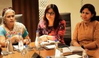 L-R-Geetha Kannan, Founder and Chief ExecutiveOfficer, Wequity,Abhinaya S Rao, Chief BusinessOfficer and Founding Member, Wequity and Divya Ravindranath, Chief CommunityOfficer and Founding Member, Wequity