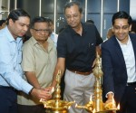 Mr. KE Ranganathan (in middle) along with guests at the inauguration ceremony of Laufen – Roca – Parryware Display Studio in Bengaluru