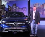 Martin Schwenk (right), Managing Director and CEO, Mercedes-Benz India with the New GLC Coupé launched in Bengaluru